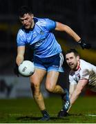 29 February 2020; Colm Basquel of Dublin gets away from Niall Sludden of Tyrone during the Allianz Football League Division 1 Round 5 match between Tyrone and Dublin at Healy Park in Omagh, Tyrone. Photo by Oliver McVeigh/Sportsfile