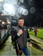 29 February 2020; Cathal McShane of Tyrone celebrates following the Allianz Football League Division 1 Round 5 match between Tyrone and Dublin at Healy Park in Omagh, Tyrone. Photo by David Fitzgerald/Sportsfile