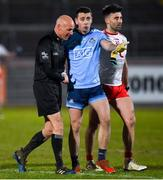 29 February 2020; Cormac Costello of Dublin in conversation with Referee Cormac Reilly after the Allianz Football League Division 1 Round 5 match between Tyrone and Dublin at Healy Park in Omagh, Tyrone. Photo by Oliver McVeigh/Sportsfile