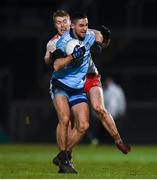 29 February 2020; James McCarthy of Dublin in action against Peter Harte of Tyrone during the Allianz Football League Division 1 Round 5 match between Tyrone and Dublin at Healy Park in Omagh, Tyrone. Photo by Oliver McVeigh/Sportsfile