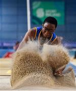 29 February 2020; Adeyemi Talabi of Longford AC, competing in the Senior Women's Long Jump event during day one of the Irish Life Health National Senior Indoor Athletics Championships at the National Indoor Arena in Abbotstown in Dublin. Photo by Sam Barnes/Sportsfile