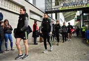1 March 2020; Kerry players, Tadhg Morley, Shane Enright and Dara Moynihan arrive prior to the Allianz Football League Division 1 Round 5 match between Mayo and Kerry at Elverys MacHale Park in Castlebar, Mayo. Photo by Brendan Moran/Sportsfile