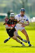 1 March 2020; Daire Burke of CBC Cork in action against Ashley Brohan of St Flannan's Ennis during the Munster GAA Dr. Harty Cup Final match between CBC Cork and St Flannan's Ennis at Mallow GAA Complex in Cork. Photo by Seb Daly/Sportsfile