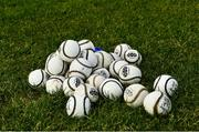 1 March 2020; Sliotars on the pitch before the Allianz Hurling League Division 1 Group B Round 5 match between Clare and Dublin at Cusack Park in Ennis, Clare. Photo by Ray McManus/Sportsfile