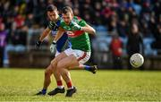 1 March 2020; Darren Coen of Mayo in action against Shane Enright of Kerry during the Allianz Football League Division 1 Round 5 match between Mayo and Kerry at Elverys MacHale Park in Castlebar, Mayo. Photo by Brendan Moran/Sportsfile
