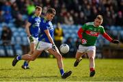 1 March 2020; Graham O'Sullivan of Kerry in action against Ryan O'Donoghue of Mayo during the Allianz Football League Division 1 Round 5 match between Mayo and Kerry at Elverys MacHale Park in Castlebar, Mayo. Photo by Brendan Moran/Sportsfile