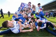 1 March 2020; St Flannan's Ennis players celebrate with the Dr. Harty Cup following their side's victory during the Munster GAA Dr. Harty Cup Final match between CBC Cork and St Flannan's Ennis at Mallow GAA Complex in Cork. Photo by Seb Daly/Sportsfile