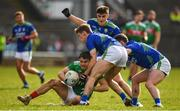1 March 2020; Oisin Mullen of Mayo is tackled by Kerry players, Gavin White and Tom O'Sullivan, right, during the Allianz Football League Division 1 Round 5 match between Mayo and Kerry at Elverys MacHale Park in Castlebar, Mayo. Photo by Brendan Moran/Sportsfile