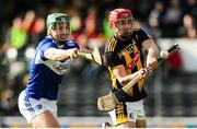 1 March 2020; James Maher of Kilkenny in action against James Ryan of Laois during the Allianz Hurling League Division 1 Group B Round 5 match between Laois and Kilkenny at UPMC Nowlan Park in Kilkenny. Photo by Michael P Ryan/Sportsfile