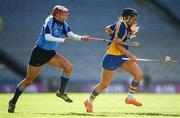 1 March 2020; Kate Kenny of St Rynagh's in action against Margo Heffernan of Gailltír during the AIB All-Ireland Intermediate Camogie Club Championship Final match between Gailltír and St Rynaghs at Croke Park in Dublin. Photo by Harry Murphy/Sportsfile