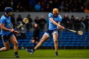 1 March 2020; Eamon Dillon of Dublin shoots to score a goal, in the 34th minute, during the Allianz Hurling League Division 1 Group B Round 5 match between Clare and Dublin at Cusack Park in Ennis, Clare. Photo by Ray McManus/Sportsfile