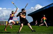 1 March 2020; Damien Jordan of Carlow in action against Conor McDonald of Wexford during the Allianz Hurling League Division 1 Group B Round 5 match between Wexford and Carlow at Chadwicks Wexford Park in Wexford. Photo by David Fitzgerald/Sportsfile