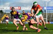 1 March 2020; Conor McDonald of Wexford in action against Paul Doyle of Carlow during the Allianz Hurling League Division 1 Group B Round 5 match between Wexford and Carlow at Chadwicks Wexford Park in Wexford. Photo by David Fitzgerald/Sportsfile