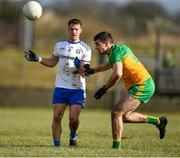 1 March 2020; Ryan Wylie of Monaghan in action against Caolan McGonagle of Donegal during the Allianz Football League Division 1 Round 5 match between Donegal and Monaghan at Fr. Tierney Park in Ballyshannon, Donegal. Photo by Oliver McVeigh/Sportsfile