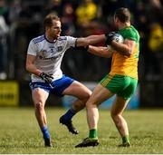 1 March 2020; Neil McGee of Donegal in action against Conor Boyle of Monaghan during the Allianz Football League Division 1 Round 5 match between Donegal and Monaghan at Fr. Tierney Park in Ballyshannon, Donegal. Photo by Oliver McVeigh/Sportsfile