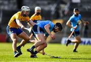 1 March 2020; Donal Burke of Dublin is tackled by Pat O'Connor of Clare during the Allianz Hurling League Division 1 Group B Round 5 match between Clare and Dublin at Cusack Park in Ennis, Clare. Photo by Ray McManus/Sportsfile