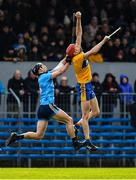 1 March 2020; Paidi Fitzpatrick of Clare is tackled by Mark Schutte of Dublin during the Allianz Hurling League Division 1 Group B Round 5 match between Clare and Dublin at Cusack Park in Ennis, Clare. Photo by Ray McManus/Sportsfile
