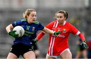1 March 2020; Lisa Cafferky of Mayo in action against Melissa Duggan of Cork during the Lidl Ladies National Football League Division 1 match between Cork and Mayo at Mallow GAA Complex in Cork. Photo by Seb Daly/Sportsfile