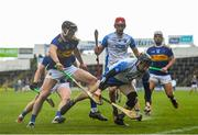 1 March 2020; Jamie Barron of Waterford in action against Dillon Quirke of Tipperary during the Allianz Hurling League Division 1 Group A Round 5 match between Tipperary and Waterford at Semple Stadium in Thurles, Tipperary. Photo by Ramsey Cardy/Sportsfile