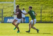 1 March 2020; Michael Daly of Galway in action against Bryan McMahon of Meath during the Allianz Football League Division 1 Round 5 match between Meath and Galway at Páirc Tailteann in Navan, Meath. Photo by Daire Brennan/Sportsfile