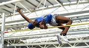 1 March 2020; Nelvin Appiah of Longford AC, after competing in the Senior Men's High Jump event during Day Two of the Irish Life Health National Senior Indoor Athletics Championships at the National Indoor Arena in Abbotstown in Dublin. Photo by Eóin Noonan/Sportsfile