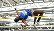 1 March 2020; Nelvin Appiah of Longford AC, competing in the Senior Men's High Jump event during Day Two of the Irish Life Health National Senior Indoor Athletics Championships at the National Indoor Arena in Abbotstown in Dublin. Photo by Eóin Noonan/Sportsfile