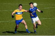 1 March 2020; Oisin Kiernan of Cavan in action against Paidi Fitzpatrick of Clare during the Allianz Football League Division 2 Round 5 match between Cavan and Clare at Kingspan Breffni Park in Cavan. Photo by Philip Fitzpatrick/Sportsfile