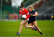 1 March 2020; Melissa Duggan of Cork in action against Maria Reilly of Mayo during the Lidl Ladies National Football League Division 1 match between Cork and Mayo at Mallow GAA Complex in Cork. Photo by Seb Daly/Sportsfile