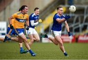 1 March 2020; Padraig Faulkner of Cavan in action against John Conlon of Clare during the Allianz Football League Division 2 Round 5 match between Cavan and Clare at Kingspan Breffni Park in Cavan. Photo by Philip Fitzpatrick/Sportsfile