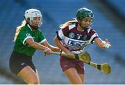 1 March 2020; Shannon Graham of Slaughtneil in action against Clodagh McGrath of Sarsfields during the AIB All-Ireland Senior Camogie Club Championship Final match between Sarsfields and Slaughtneil at Croke Park in Dublin. Photo by Harry Murphy/Sportsfile