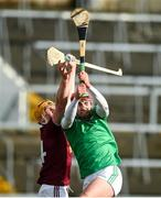 1 March 2020; Niall Mitchell of Westmeath in action against Barry Nash of Limerick during the Allianz Hurling League Division 1 Group A Round 5 match between Limerick and Westmeath at LIT Gaelic Grounds in Limerick. Photo by Diarmuid Greene/Sportsfile