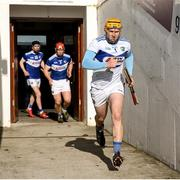 1 March 2020; Enda Rowland of Laois leads his team out for the second half during the Allianz Hurling League Division 1 Group B Round 5 match between Laois and Kilkenny at UPMC Nowlan Park in Kilkenny. Photo by Michael P Ryan/Sportsfile