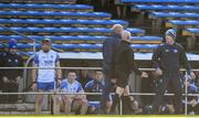 1 March 2020; Waterford manager Liam Cahill appeals to an official after red cards for Waterford players Kevin Moran, 7, and Austin Gleeson, 6,  during the Allianz Hurling League Division 1 Group A Round 5 match between Tipperary and Waterford at Semple Stadium in Thurles, Tipperary. Photo by Ramsey Cardy/Sportsfile