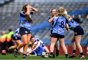 1 March 2020; Shauna Fitzgerald of Gailltír a team-mates react following the AIB All-Ireland Intermediate Camogie Club Championship Final match between Gailltír and St Rynaghs at Croke Park in Dublin. Photo by Harry Murphy/Sportsfile