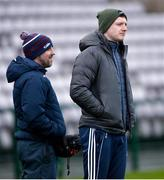 1 March 2020; Joe Canning of Galway, right, ahead of during the Allianz Hurling League Division 1 Group A Round 5 match between Galway and Cork at Pearse Stadium in Salthill, Galway. Photo by Ray Ryan/Sportsfile