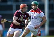 1 March 2020; Conor Whelan of Galway in action against Eoin Cadogan of Cork during the Allianz Hurling League Division 1 Group A Round 5 match between Galway and Cork at Pearse Stadium in Salthill, Galway. Photo by Ray Ryan/Sportsfile