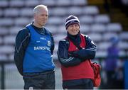 1 March 2020; Galway manager Shane O'Neill, left, with Dr. Ian O'Connor ahead of during the Allianz Hurling League Division 1 Group A Round 5 match between Galway and Cork at Pearse Stadium in Salthill, Galway. Photo by Ray Ryan/Sportsfile