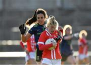 1 March 2020; Saoirse Noonan of Cork in action against Noirin Moran of Mayo during the Lidl Ladies National Football League Division 1 match between Cork and Mayo at Mallow GAA Complex in Cork. Photo by Seb Daly/Sportsfile