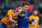 1 March 2020; Conor Madden of Cavan in action against Tony Kelly of Clare during the Allianz Football League Division 2 Round 5 match between Cavan and Clare at Kingspan Breffni Park in Cavan. Photo by Philip Fitzpatrick/Sportsfile