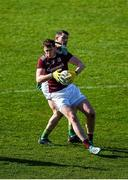 1 March 2020; Tom Flynn of Galway in action against Donal Keogan of Meath during the Allianz Football League Division 1 Round 5 match between Meath and Galway at Páirc Tailteann in Navan, Meath. Photo by Daire Brennan/Sportsfile