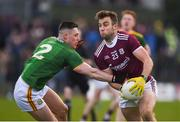 1 March 2020; Paul Conroy of Galway in action against Robin Clarke of Meath during the Allianz Football League Division 1 Round 5 match between Meath and Galway at Páirc Tailteann in Navan, Meath. Photo by Daire Brennan/Sportsfile