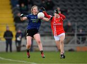 1 March 2020; Sinéad Cafferky of Mayo in action against Melissa Duggan of Cork during the Lidl Ladies National Football League Division 1 match between Cork and Mayo at Mallow GAA Complex in Cork. Photo by Seb Daly/Sportsfile