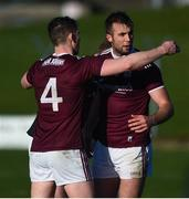 1 March 2020; Johnny Heaney, left, and Paul Conroy of Galway celebrate after the Allianz Football League Division 1 Round 5 match between Meath and Galway at Páirc Tailteann in Navan, Meath. Photo by Daire Brennan/Sportsfile