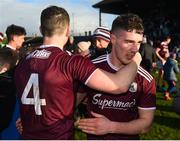 1 March 2020; Johnny Heaney, left, and Eamonn Brannigan of Galway celebrate after the Allianz Football League Division 1 Round 5 match between Meath and Galway at Páirc Tailteann in Navan, Meath. Photo by Daire Brennan/Sportsfile