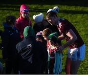 1 March 2020; Tom Flynn of Galway celebrates with supporters after the Allianz Football League Division 1 Round 5 match between Meath and Galway at Páirc Tailteann in Navan, Meath. Photo by Daire Brennan/Sportsfile