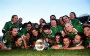 1 March 2020; Sarsfields players celebrate with the trophy following the AIB All-Ireland Senior Camogie Club Championship Final match between Sarsfields and Slaughtneil at Croke Park in Dublin. Photo by Harry Murphy/Sportsfile