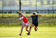 1 March 2020; Shauna Kelly of Cork in action against Maria Reilly of Mayo during the Lidl Ladies National Football League Division 1 match between Cork and Mayo at Mallow GAA Complex in Cork. Photo by Seb Daly/Sportsfile