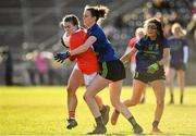 1 March 2020; Libby Coppinger of Cork in action against Clodagh McManamon of Mayo during the Lidl Ladies National Football League Division 1 match between Cork and Mayo at Mallow GAA Complex in Cork. Photo by Seb Daly/Sportsfile