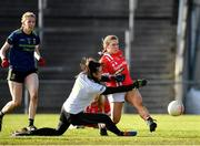 1 March 2020; Libby Coppinger of Cork shoots to score her side's first goal of the game, past Aishling Tarpey of Mayo, during the Lidl Ladies National Football League Division 1 match between Cork and Mayo at Mallow GAA Complex in Cork. Photo by Seb Daly/Sportsfile