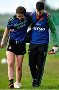 1 March 2020; Roisin Durkin of Mayo is helped from the field by physiotherapist Jamie Costello following an injury during the Lidl Ladies National Football League Division 1 match between Cork and Mayo at Mallow GAA Complex in Cork. Photo by Seb Daly/Sportsfile